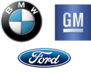 BMW, Ford, GM Logos