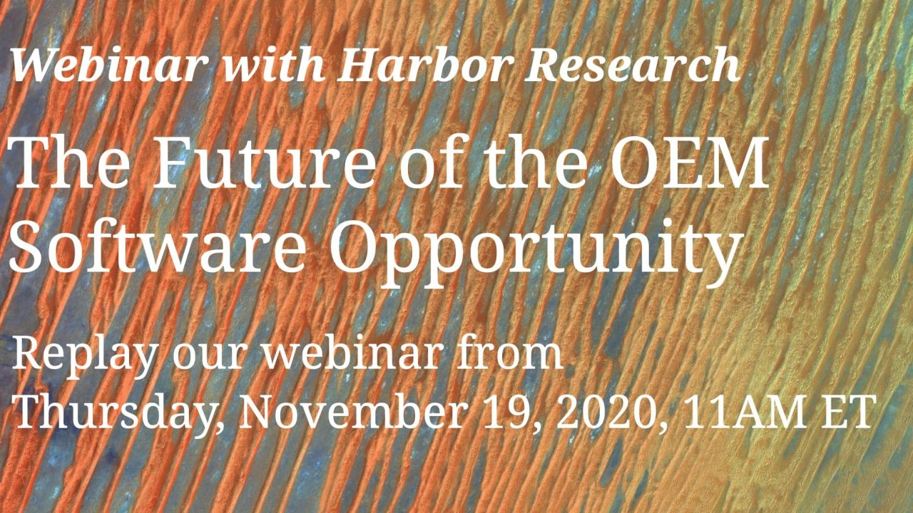 Future Perfect Tech Webinar 1: The Future of the OEM Software Opportunity