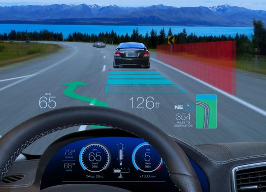 AR windshield display