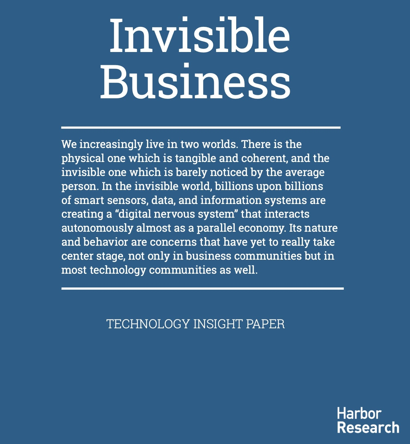 Invisible Business paper cover