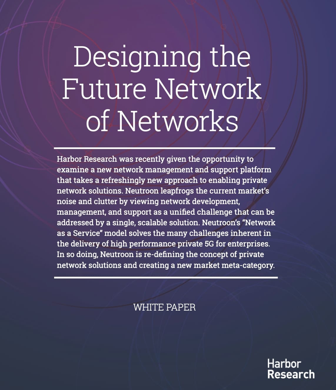 Designing the Future Network of Networks cover