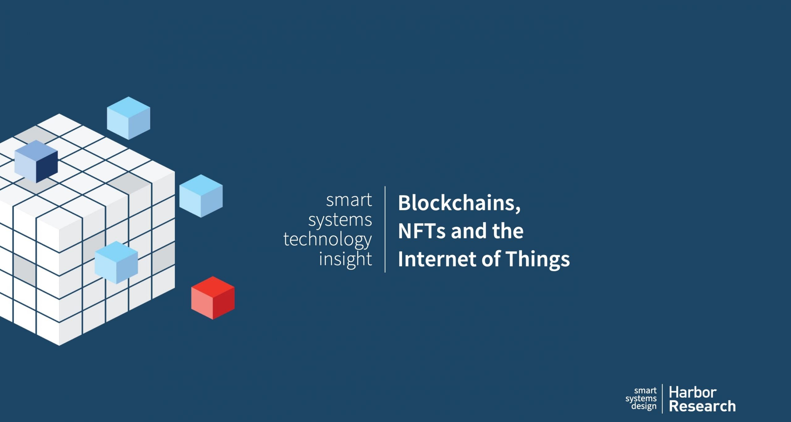 Blockhains NFTs and the IoT cover